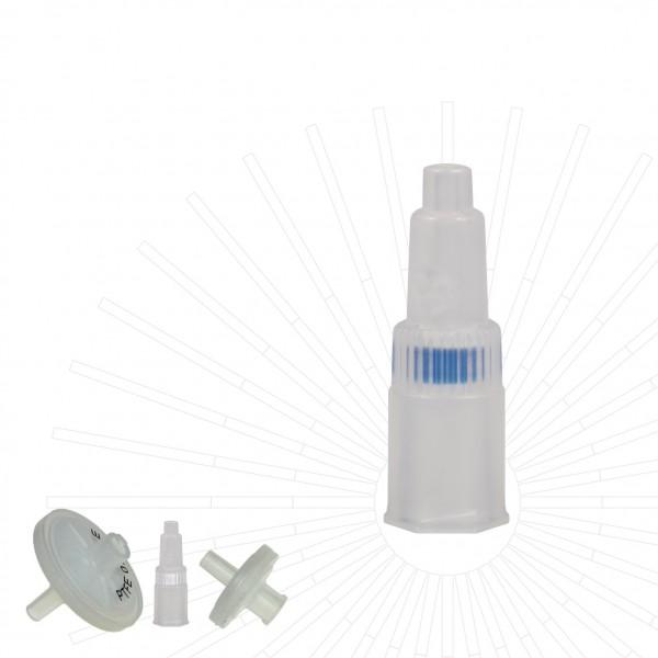 Spritzenfilter / Spritzenvorsatzfilter, PTFE, Ø 4 mm, Pore 0.2 µm, nicht steril, 100/Pk
