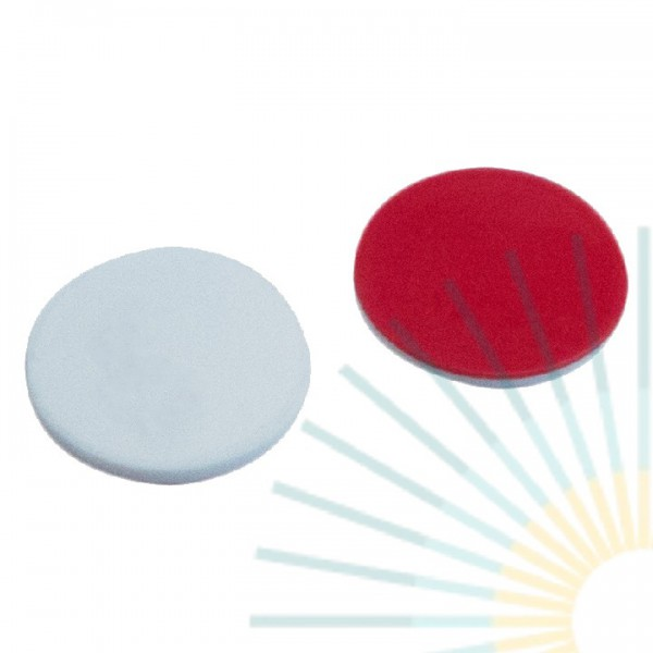 17mm Septa, Silicone white/PTFE red, 1.3mm