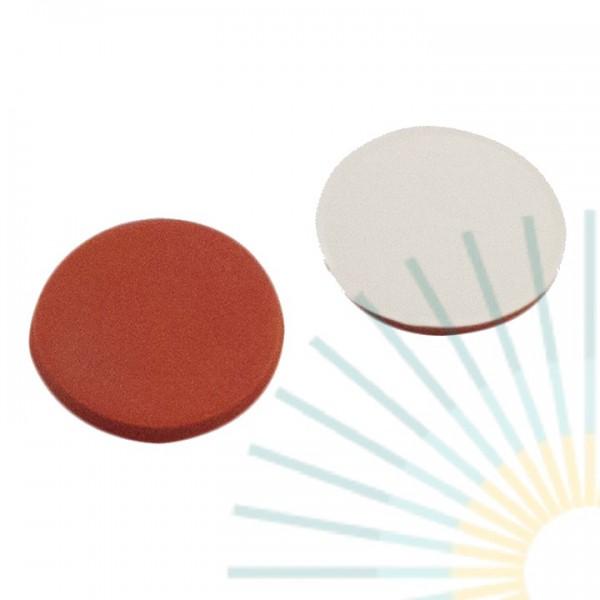 9mm Septum, Red Rubber / PTFE beige, 1,0mm