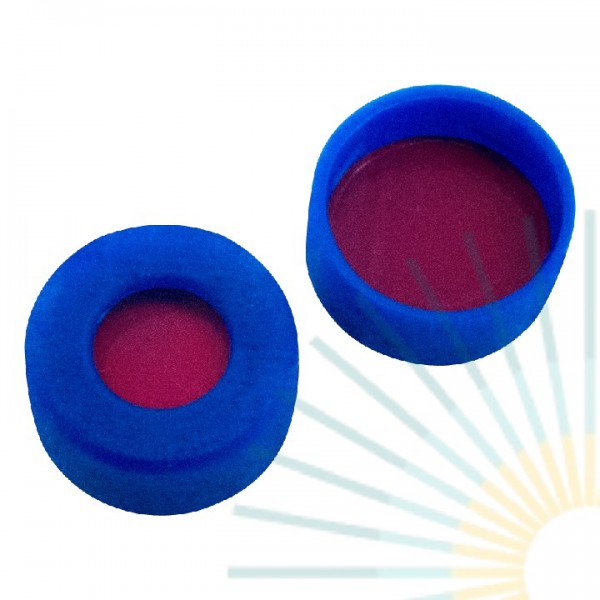 11mm PE Snap Ring Cap, blue, hole, soft version; PTFE red/Silicone white/PTFE red, 1.0mm