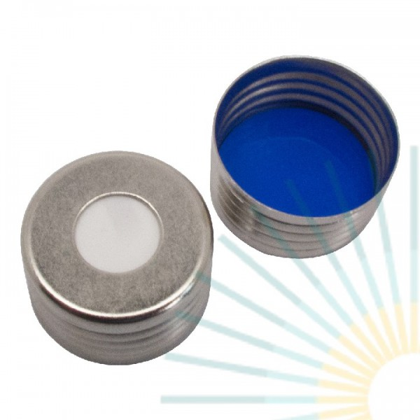 18mm magnet. Universal Precision Thread Cap, silver, hole; Silicone white/PTFE blue, 1.5mm