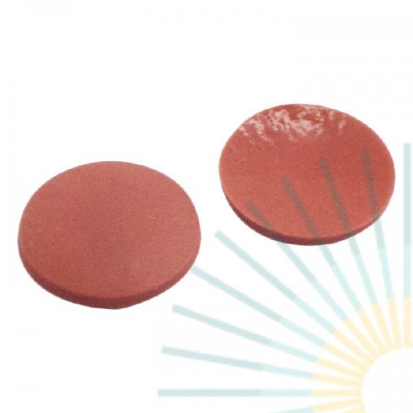 9mm Septum, Naturkautschuk rot-orange/TEF transp., 1,3mm
