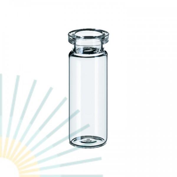 10ml Rollrandflasche, 54,5 x 20mm, Klarglas, flacher Boden