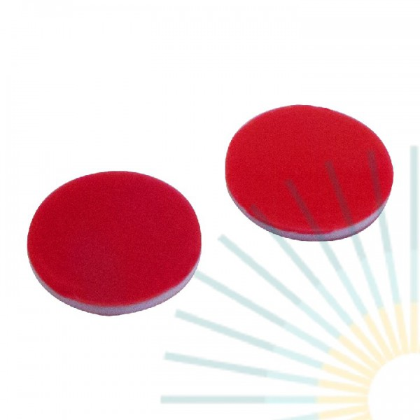 9,5mm Septa, PTFE red/Silicone white/PTFE red, 1.0mm