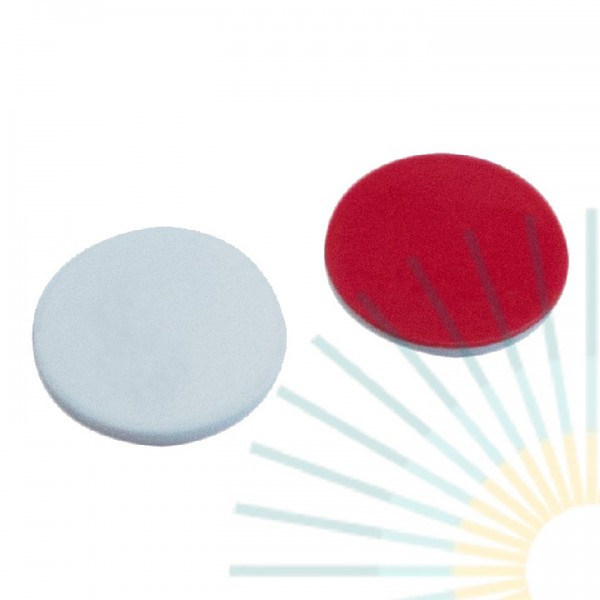 9,5mm Septa, Silicone white/PTFE red, 1.3mm