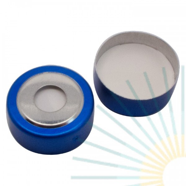 20mm Magnet. Bimetal-Cap, blue, 8mm hole; Silicone white/PTFE beige, 3.2mm (HT quality)