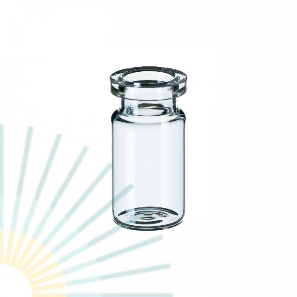 5ml Crimp Neck Vial, clear, flat bottom