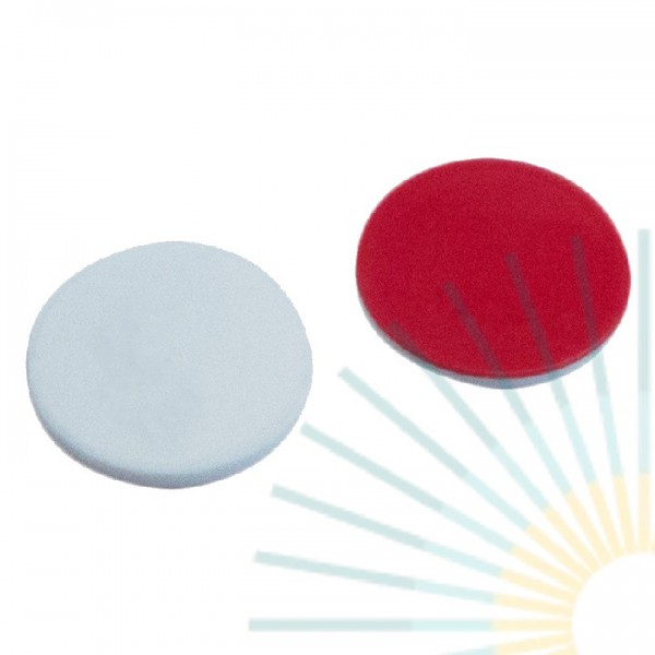 8mm Septa, Silicone white/PTFE red, 1.3mm