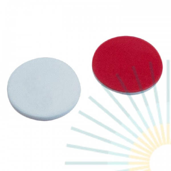 9mm Septa, Silicone white/PTFE red, 1.0mm
