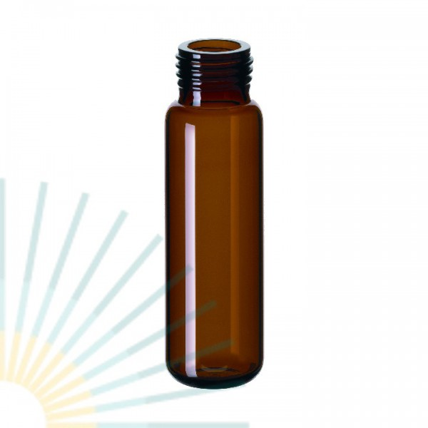 20ml Precision Thread Vial, amber, rounded bottom (f. magnet. SK)
