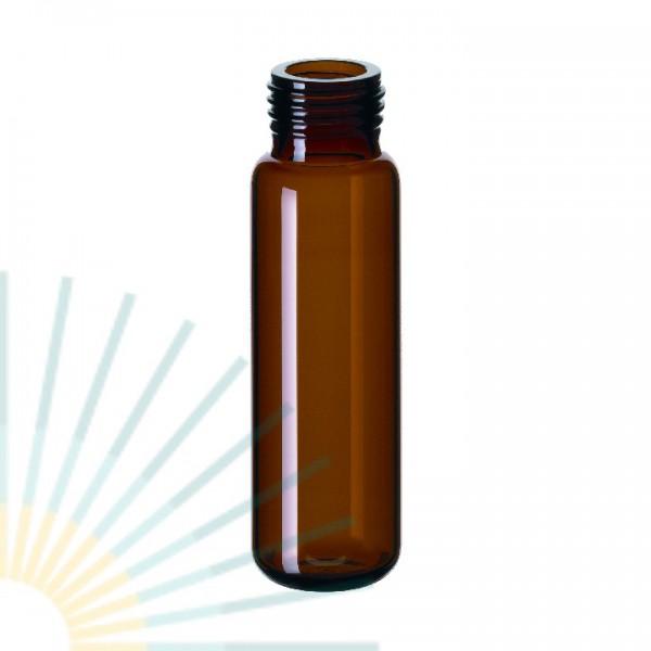 20ml Fein-GW-Flasche, 75,5 x 22,5mm, Braunglas, gerundeter Boden (f. magnet. SK)