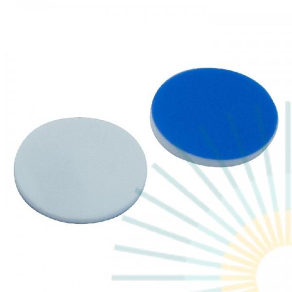 17mm Septa, Silicone white/PTFE blue, 1.5mm