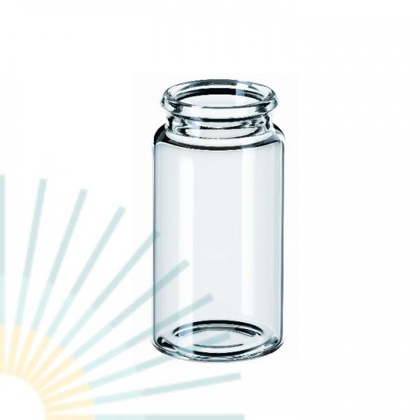15ml Schnappdeckel-Flasche ND22, 48 x 26mm, Klarglas