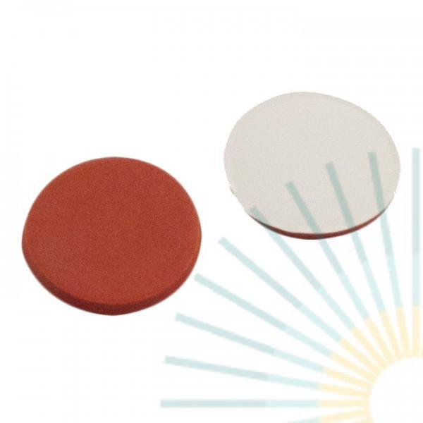 8mm Septa, RedRubber/PTFE beige, 1.0mm