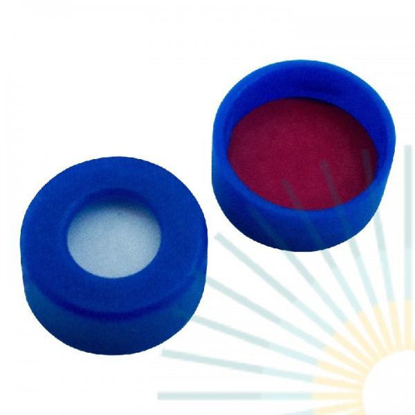 11mm PE Snap Ring Cap, blue, hole, soft version; Silicone white/PTFE red, 1.0mm