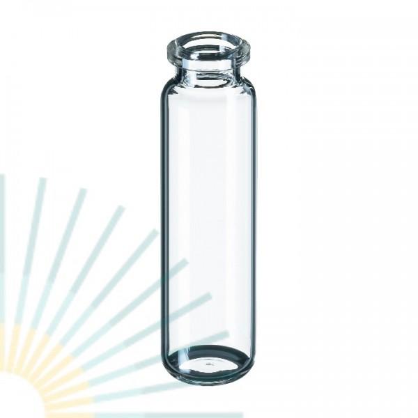 20ml HS-Flasche, 75,5 x 23mm, Klarglas, gerundeter Boden