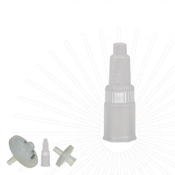 Spritzenfilter / Spritzenvorsatzfilter, Polypropylen, Ø 4 mm, Pore 0.2 µm, nicht steril, 100/Pk