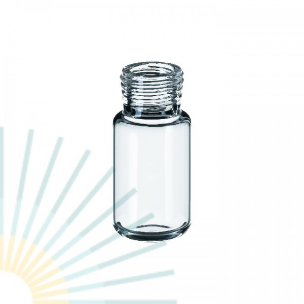 10ml Precision Thread Vial, clear, rounded bottom (f. magnet. SK)