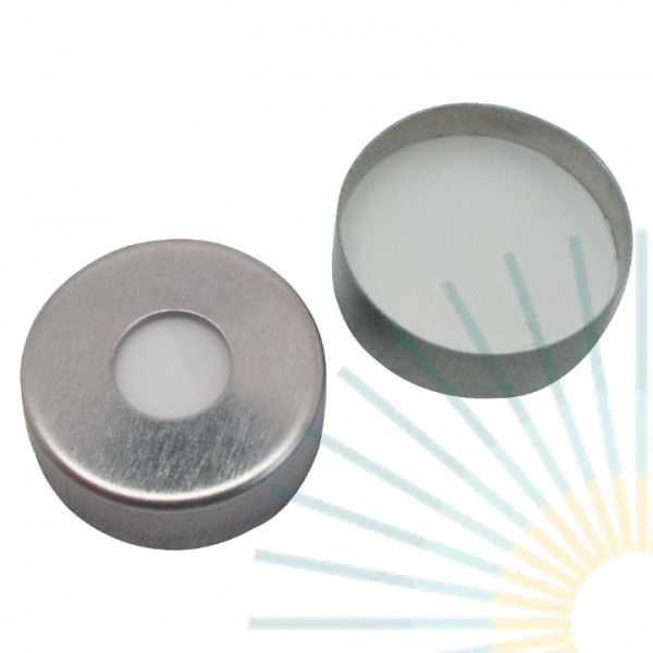 20mm Magnet. Crimp Cap, silver, 8mm hole; Silicone white/PTFE beige, 3.2mm (HT quality)