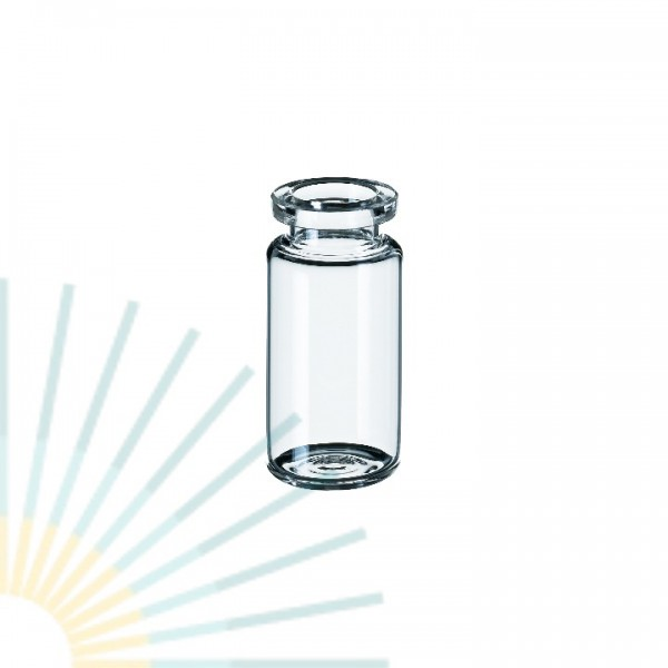 10ml HS-Vial, clear, Crimp Neck, rounded bottom