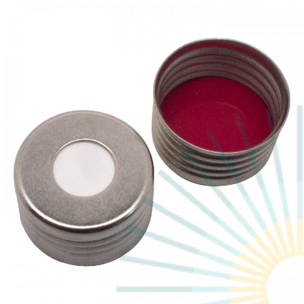 18mm magnet. Universal Precision Thread Cap, silver, hole; Silicone white/PTFE red, 1.3mm