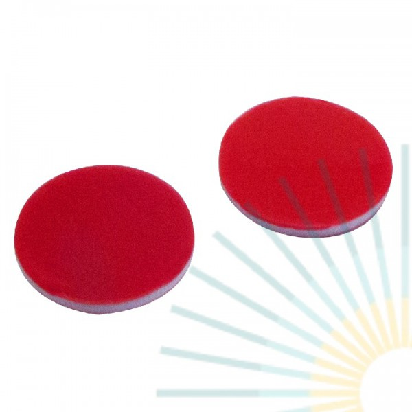 9mm Septa, PTFE red/Silicone white/PTFE red, 1.0mm