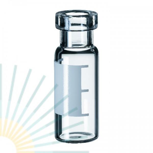 1,5ml Rollrandflasche, 32 x 11,6mm, Klarglas, weite Öffnung, SF und FM